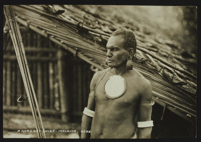 John Watt Beattie, 'A Roas bay chief - Malaita - Solomons', Musée du quai Branly