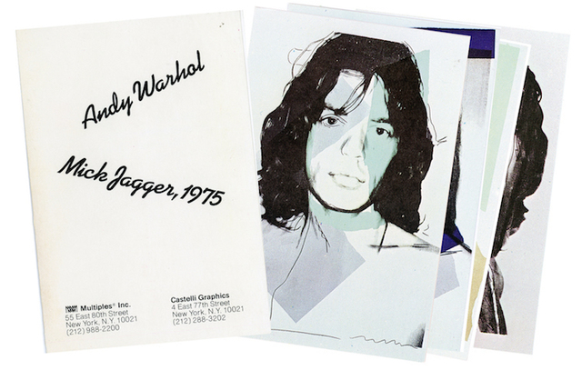 , 'Castelli Graphics, Andy Warhol, Mick Jagger, Portfolio with 10 Postcards,' 1975, James Fuentes