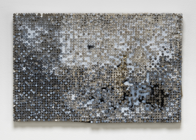 , 'Black and Gold Static,' 2018-2019, Elizabeth Leach Gallery
