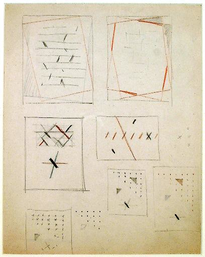 , 'Various Studies for Compositions (D73),' c. 1946, Annely Juda Fine Art