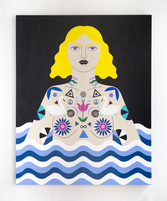 , 'Water Warrior Night,' 2016, Denny Gallery