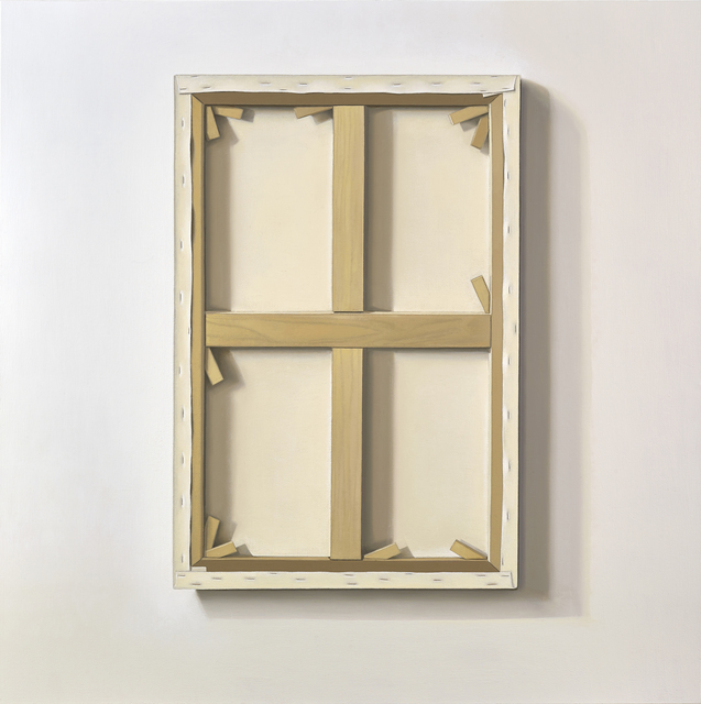 , 'Reversed Canvas,' 2017, Parafin