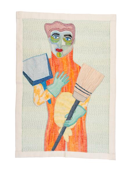 Paloma Castillo, 'Mr. Musculos', 2019, Textile Arts, Hand Embroidery, Isabel Croxatto Galería