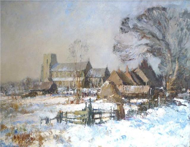 , 'Ludham Church, Winter,' , Portland Gallery