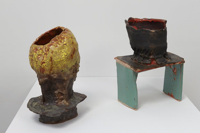 , 'Bubbles (left), Stool and Bowl (right),' 2015, Jane Hartsook Gallery