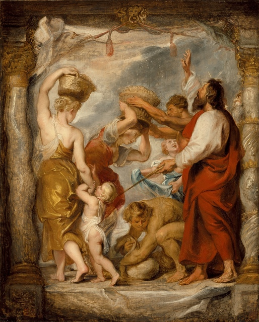 Peter Paul Rubens, 'The Israelites Gathering Manna in the Desert', ca. 1626-1627, Los Angeles County Museum of Art