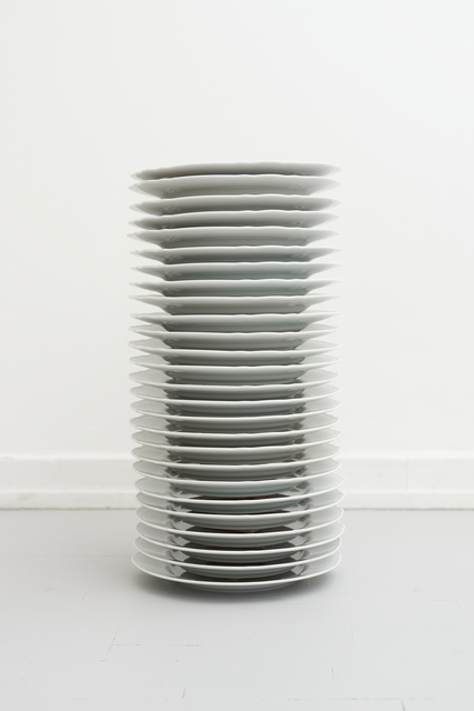 Filip Berg, 'Plate Pile', 2020, Design/Decorative Art, Porcelain, wood, Etage Projects