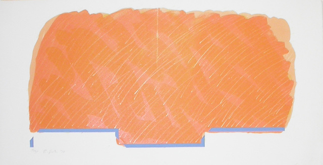 , 'Horizon I (orange with blue base),' 1970, Bernard Jacobson Gallery