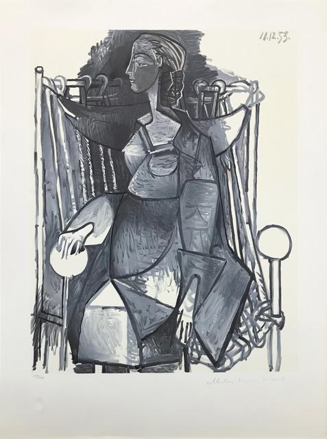 Pablo Picasso, 'FEMME ASSISE DANS UN FAUTEUIL TRESSE', 1979-1982, Reproduction, LITHOGRAPH ON ARCHES PAPER, Gallery Art