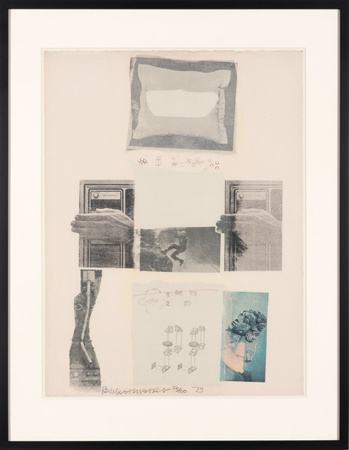 Robert Rauschenberg, 'TWO REASONS BIRDS SING', 1979, Print, Color screenprint and collage, Doyle