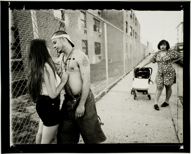 , 'Anthony Hitting on Giselle, Vivien Waiting, Lorimer Street, Williamsburg, Brooklyn,' 1996, George Eastman Museum