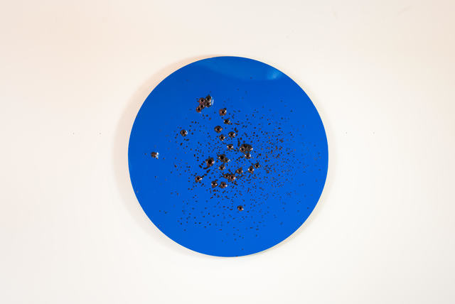 , 'Caliber Abstraction Blue on Red,' 2017, Mugello Gallery