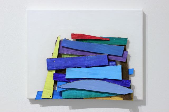 , 'Colored Stackes,' 2016, Josée Bienvenu