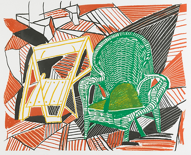 David Hockney, 'Two Pembroke Studio Chairs from Moving Focus (Tokyo 276)', 1985, Rago/Wright