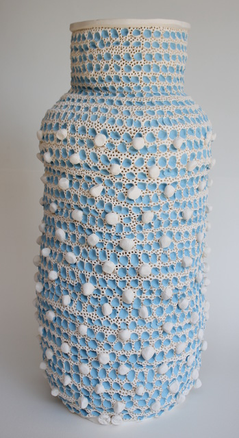 , 'Large Blue and White Vase,' 2018, Mindy Solomon Gallery