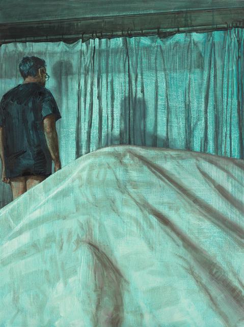 Laura Karetzky, 'Pool House', 2019, Painting, Oil on wood, Elizabeth Houston Gallery