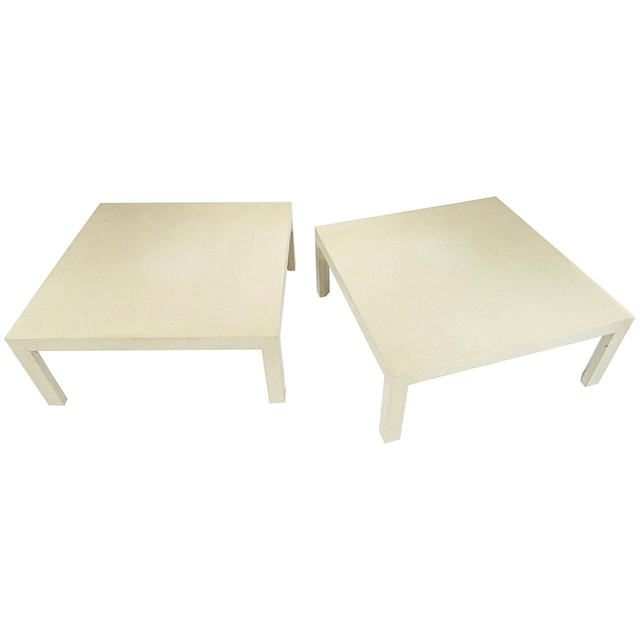 , 'Pair of Craqueleur Low Tables,' Mid 20th Century, Galerie XX