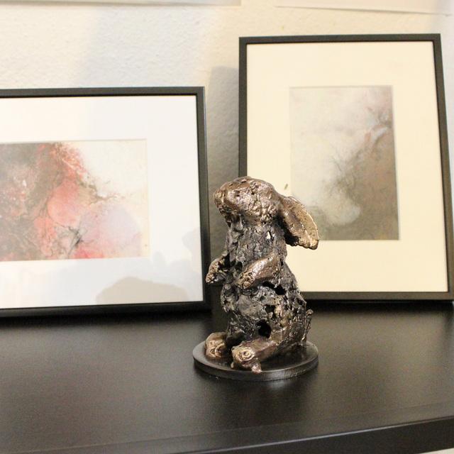 Philippe Buil, 'Rabbit 78-21', 2021, Sculpture, Steel and bronze, Galerie Art Pluriel Rive Droite