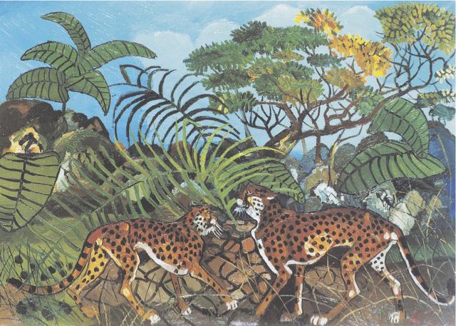 , 'Leopardi nella foresta,' 1962, Centro Steccata