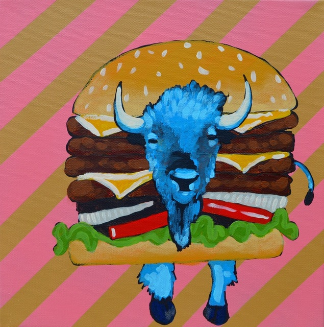 , 'BUFFALO BURGER STUDY PHASE 4,' 2016, Tansey Contemporary