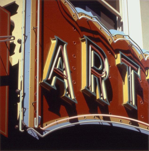 Robert Cottingham, 'Art', 1992, Print, Lithography, Eckert Fine Art