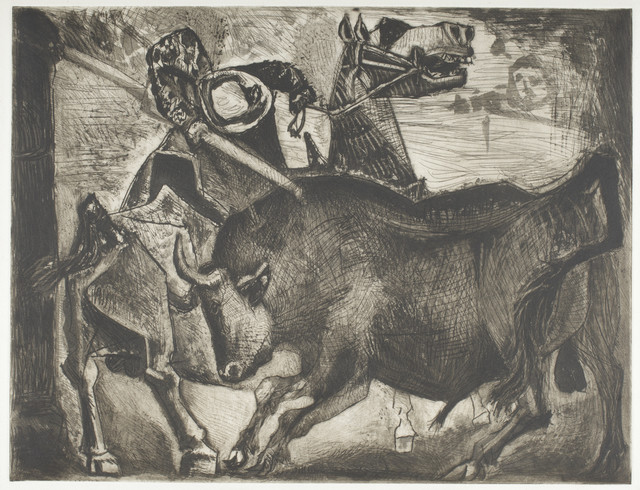 Pablo Picasso, 'Taureau et Picador  ', June 17-1952, Print, Aquatint, scraper, drypoint, and engraving printed on Arches wove paper, Los Angeles County Museum of Art