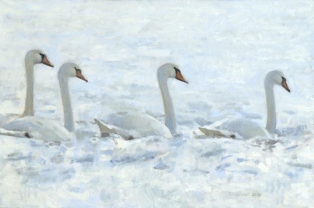 , 'Swans,' 2014, Jonathan Cooper, Park Walk Gallery