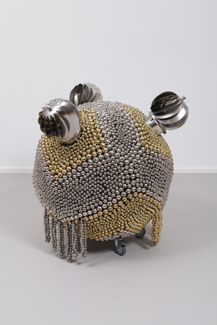 , 'Sonic Sphere with Enthralling Trio – Diagonally-sectioned Brass and Nickel,' 2016, Kukje Gallery