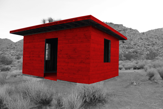 , 'Red Ghost Cabin,' 2018, Joshua Tree Art Gallery