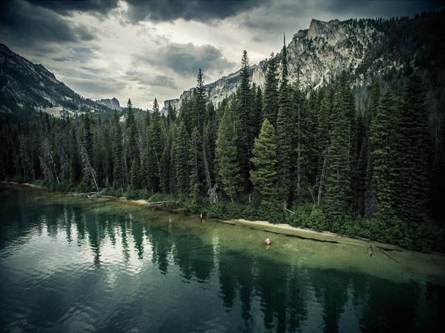 David Ondaatje, 'Pettit Lake Angler, Blaine County, Idaho', ROSEGALLERY