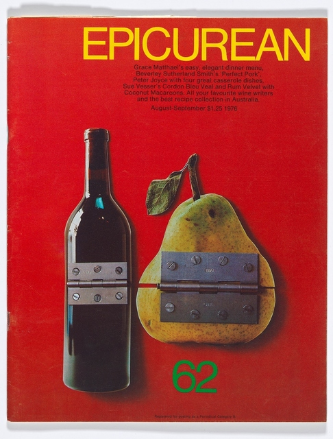 , 'Epicurean Magazine Cover Design August-September ,' 1976, National Gallery of Victoria