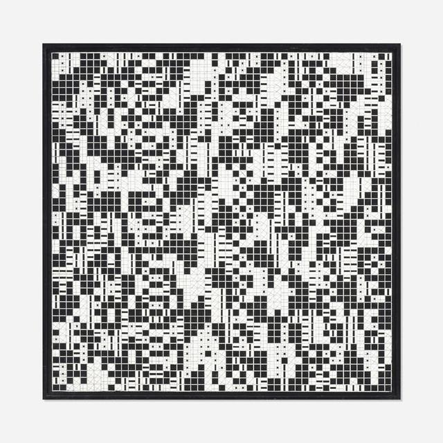 Lucia di Luciano, 'Struttura ritmica data da immagini in combinatoria fra loro', 1966, Wright