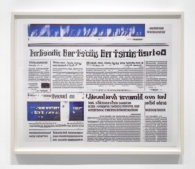 Jason Salavon, 'Narrative Frame (Newspapers 4)', 2019, Print, Archival pigment print, Inman Gallery