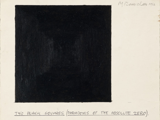 , 'Two Black Squares (Paradoxes of the Absolute Zero),' 1966, SPROVIERI
