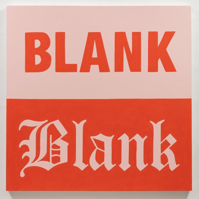 , 'Blank,' 2018, Charlie James Gallery