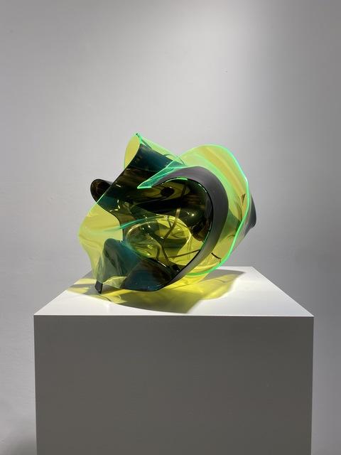 Paul Schwer, 'BAOZI FLUO GRÜN 1', 2016, Sculpture, Pigmente und Siebdrucklack auf farbigem Plexiglas, Galerie Wolfgang Jahn