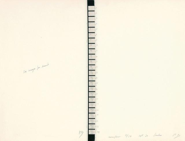 , '24 Images par seconde,' 1970, Richard Saltoun
