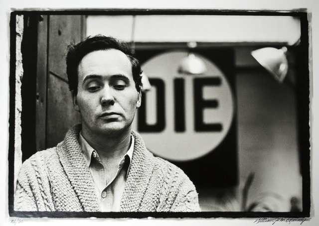 William John Kennedy, 'Robert Indiana with his DIE in the background ', 1963, William John Kennedy Collection