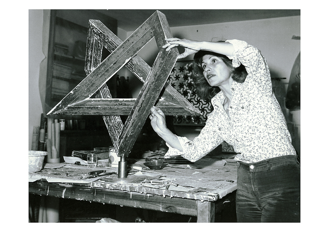 , 'Monir Shahroudy Farmanfarmaian in her studio working on Heptagon Star, Tehran, 1975,' 1975, Guggenheim Museum