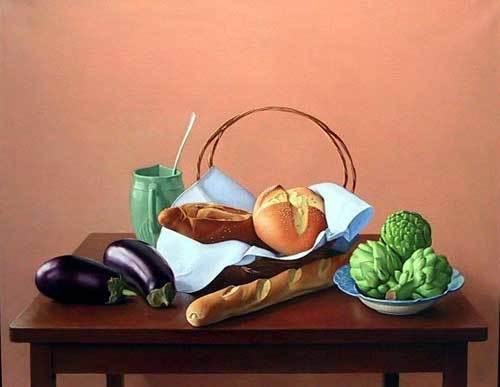 , 'Eggplants, Bread, and Artichokes,' , Zenith Gallery