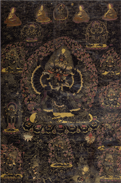 , 'Black ground thangka of Vajrabhairava,' 18th century, Rossi & Rossi