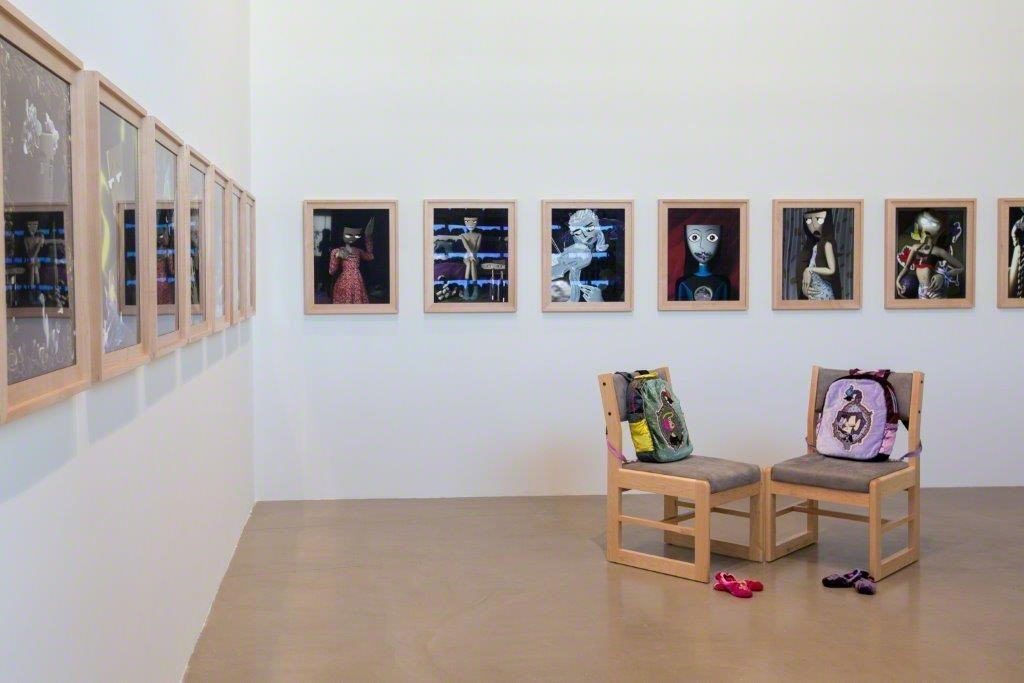 "Installation view of Bunny Rogers at ""The Heart is a Lonely Hunter,"" YARAT Contemporary Art Centre, Baku, Azerbaijan, 25 September 2015 – 9 January 2016."