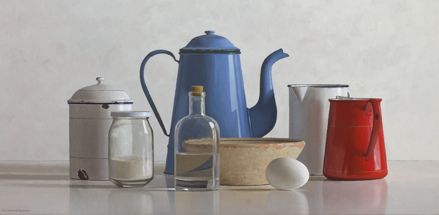 Willem de Bont, 'Still life with blue and red can', 2019, Smelik & Stokking Galleries