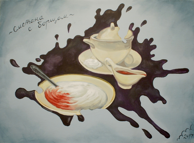 , 'Sour cream with borshch,' 2017, Galerie Iragui