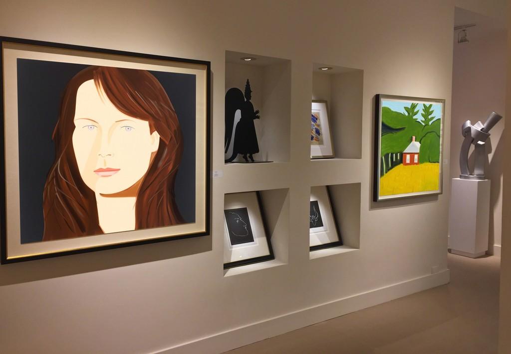 Alex Katz, Grisha Bruskin, Henri Matisse, Matt Phillips and Guy Dill installation at Meyerovich Gallery, San Francisco