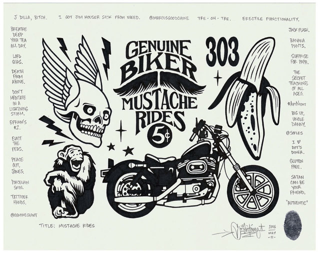 , 'Mustache Rides,' 2016, Black Book Gallery