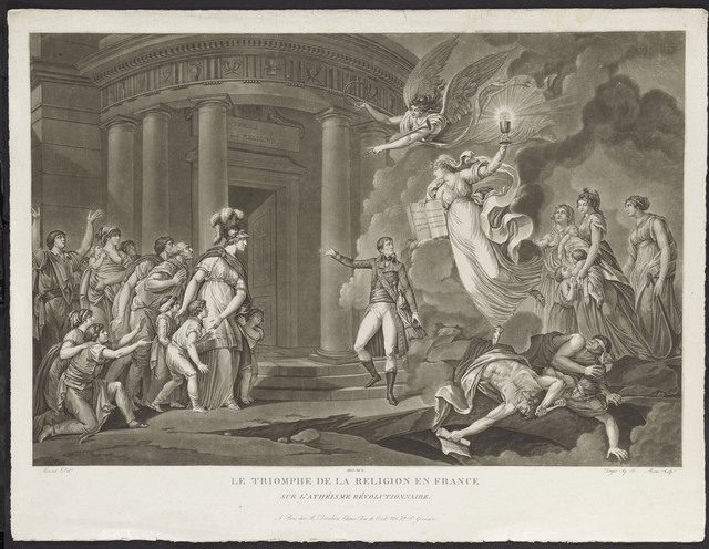 , 'Le Triomphe de la religion en France sur l'athéisme révolutionnaire (The triumph of religion in France against revolutionary atheism),' 1803, Château de Fontainebleau