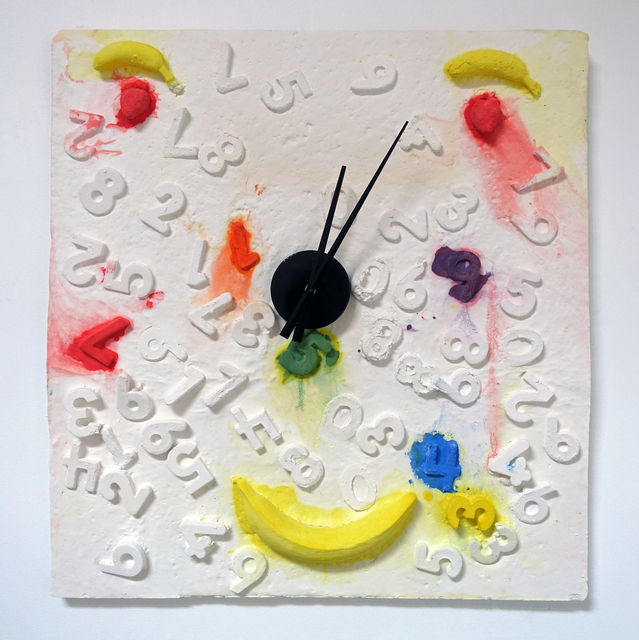 , 'Fruit Face Clock,' 2016, Andrea McGinty
