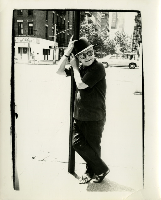 , 'Truman Capote Leaning on a Street Lamp,' 1980, Hedges Projects