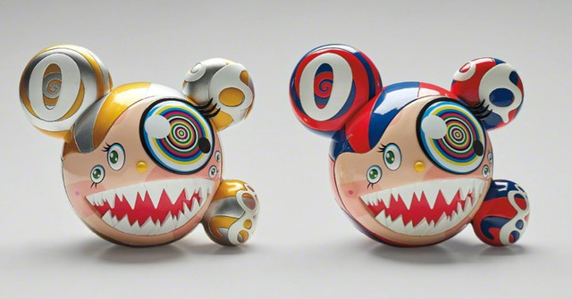 Takashi Murakami SIGNED Mr DOB Complexcon set of 2